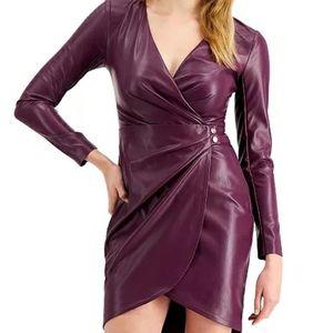 GUESS  Lexie Faux-Leather Mini Dress